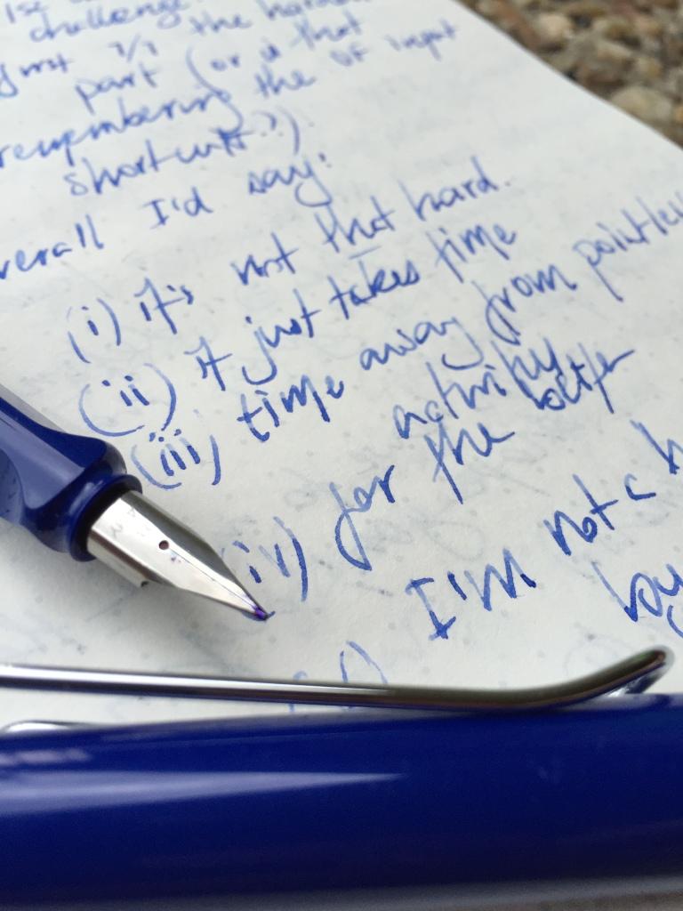 Fountain pen example in Baron Fig Confidant