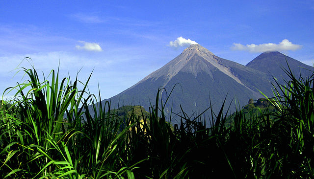Volcano de Fuego in the Acatenango region in Guatemala. Photo courtesy Javier Ruata.