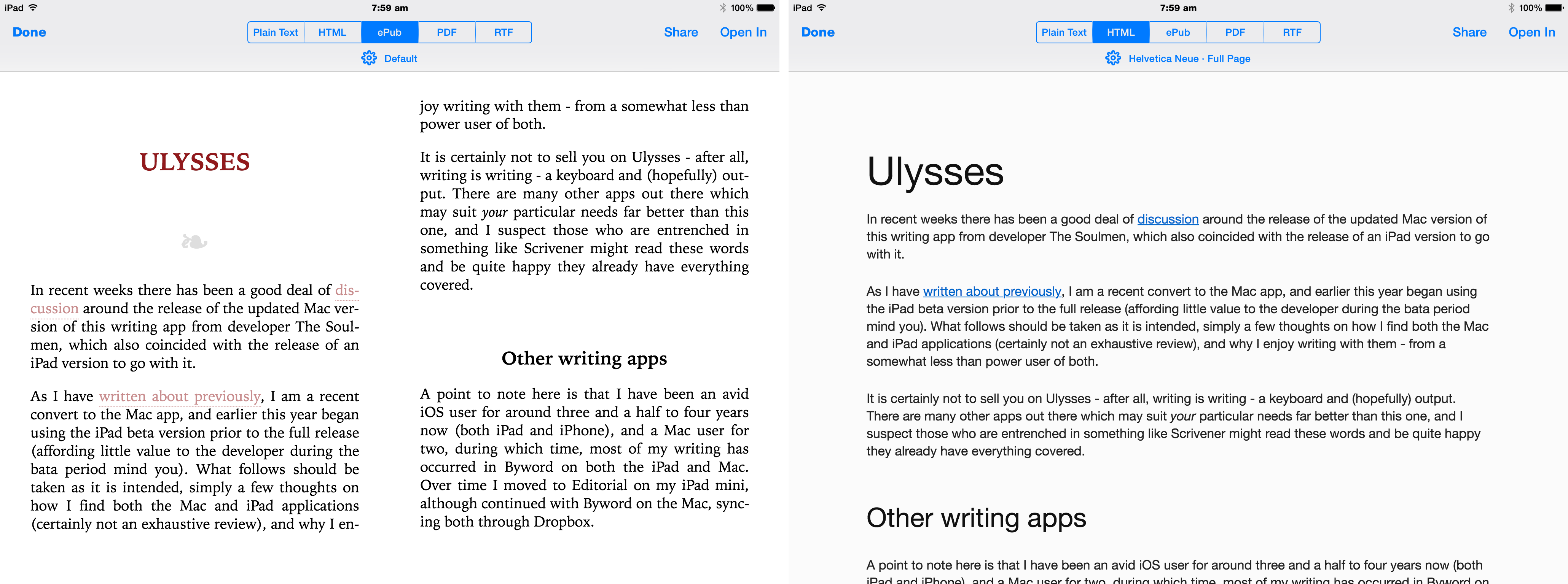 writing with ulysses pete denison