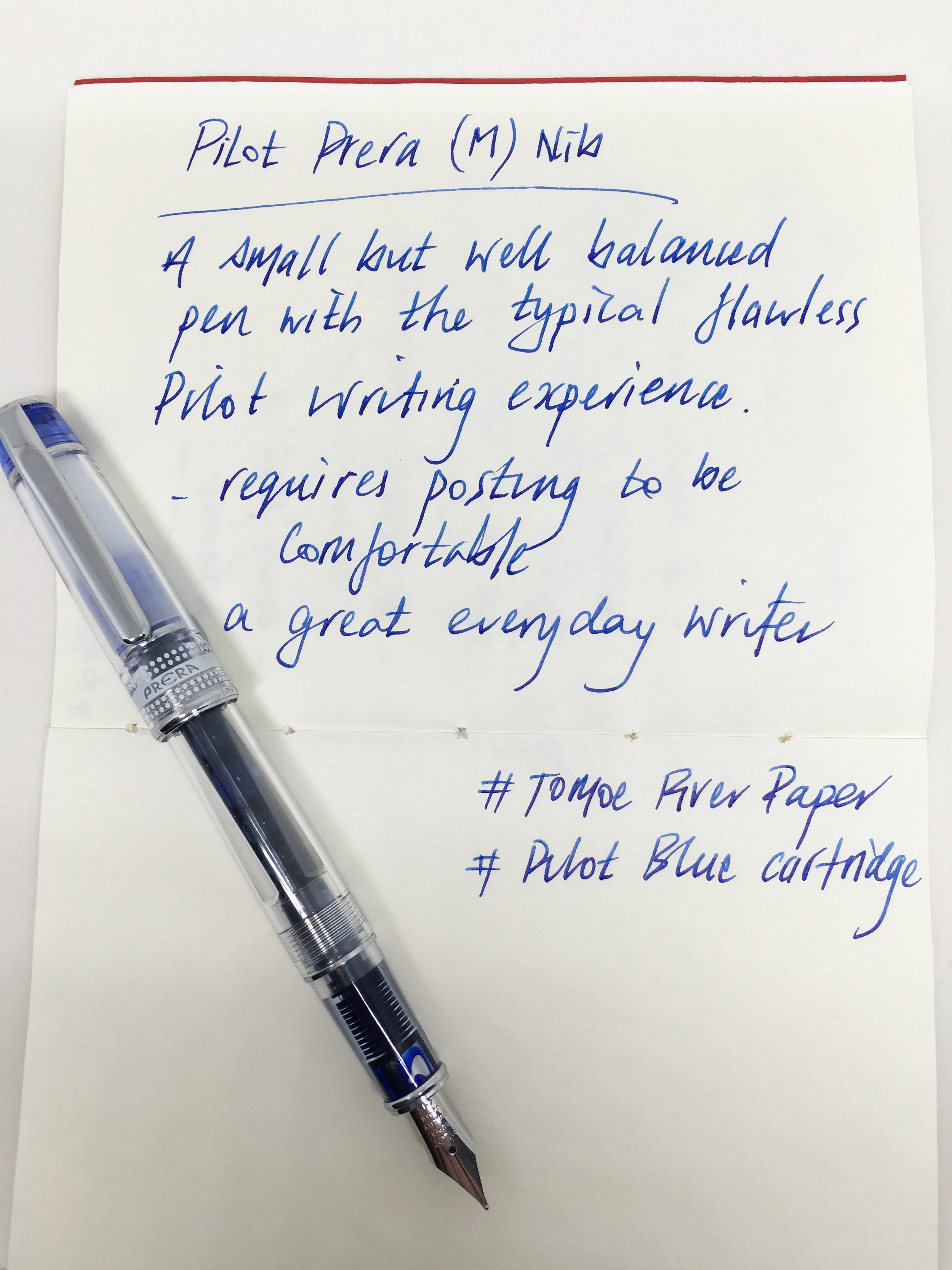 It is for this very reason (and the snap on cap), I have found the Prera to  be a fantastic day to day office pen. In a daily writer, ...