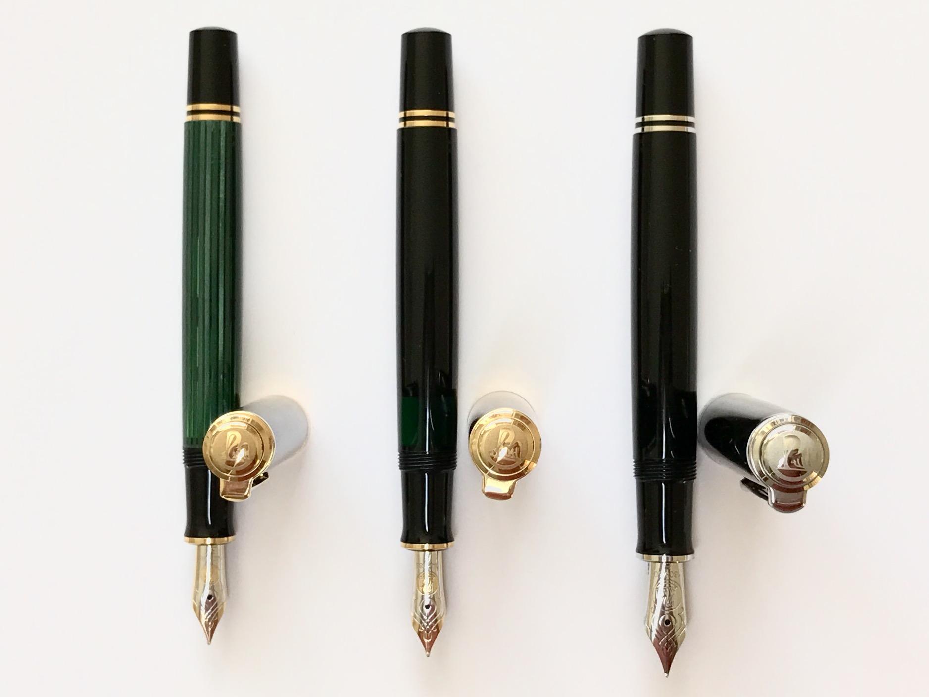 Fountain Pen Pete Denison Parts Diagram Pelikan Siblings L To R M400 M600 M805